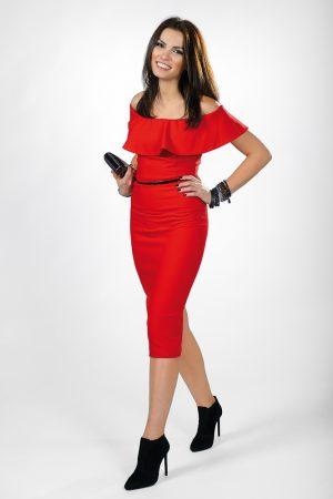 Magda Wolny, sylwester, moda, sukienka czerwona